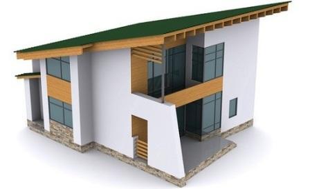 Односкатная плоская крыша